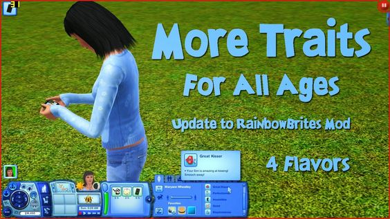 how to change my sims traits