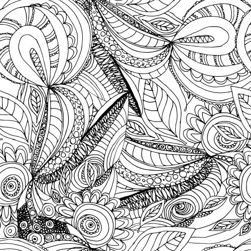 Nature Doodle Coloring Page