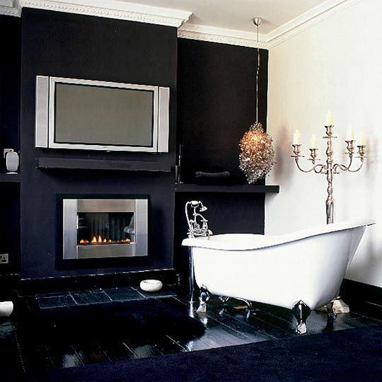 Modern bathroom with victorian accents.