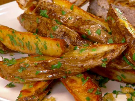 Butter-Garlic Oven Fries with Herbs from FoodNetwork.com