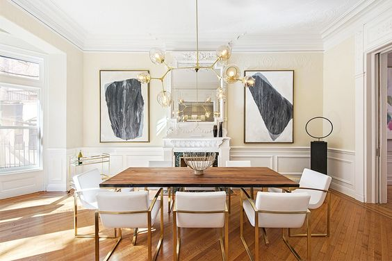 We're Swooning Over This Feminine Brooklyn Townhouse via @MyDomaine: