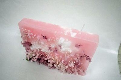 花キャンドル pink