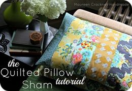 Tutorial: Quilted Pillow Sham