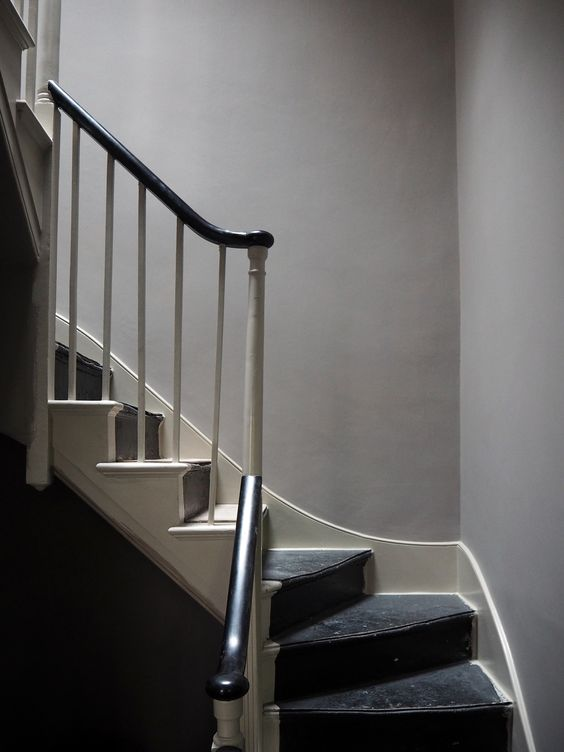 lovely grey walls for the hallways and stairs: