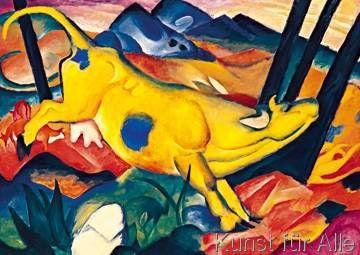 Franz Marc - Die gelbe Kuh