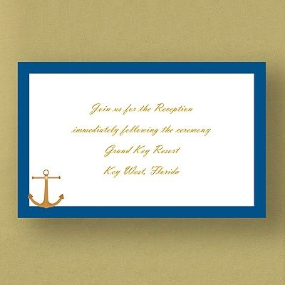 Nautical Dream - Reception Card  |  http://mediaplus.carlsoncraft.com/Weddings/Reception-Cards/2872-EKHR42PPM-Nautical-Dream--Reception-Card.pro?parentProductId=72750