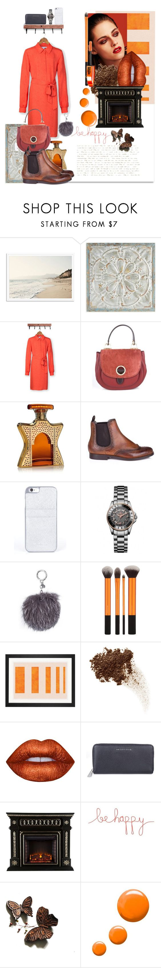 """""""Falling for Orange"""" by zeeandcoltd ❤ liked on Polyvore featuring Pier 1 Imports, Bond No. 9, Chanel, Natural Life, Topshop and L'Oréal Paris"""