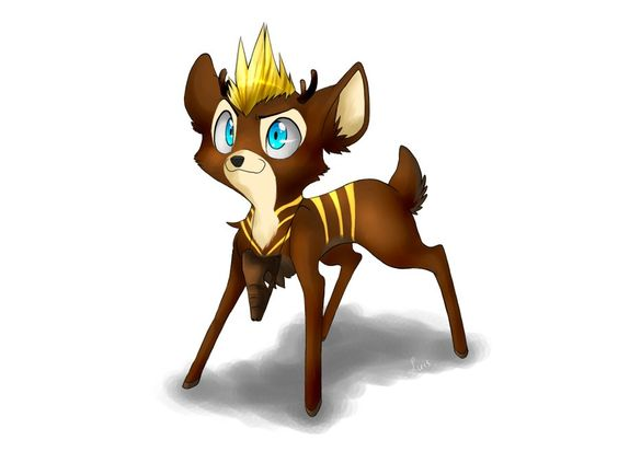 Gift::. Luis, The Striped Fawn by MarticusProductions.deviantart.com on @deviantART