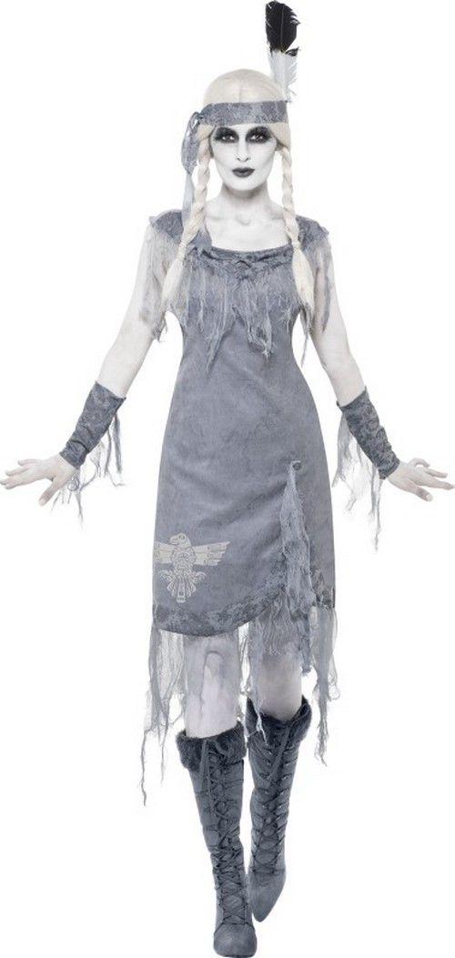Halloween Indianer-Geister-Kostüm für Damen : Vegaoo Kostüme für Erwachsene