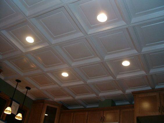 Basement Lighting Recessed Ceiling: Decorative Drop Ceiling Tiles With RECESSED Lighting