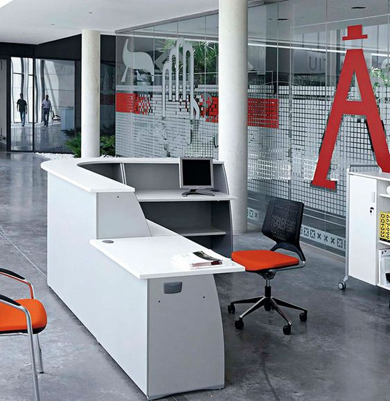 Recepciones de oficina modernas rojo office spaces for Oficina y despachos