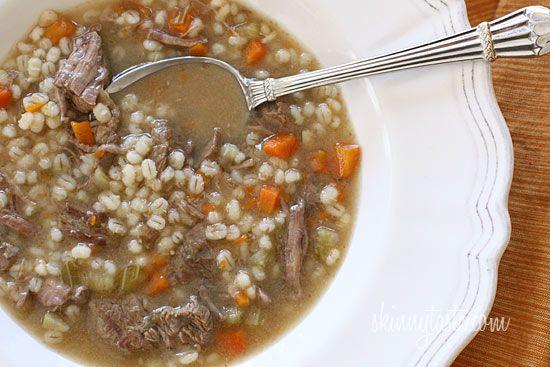 Beef Barley Soup | Skinnytaste