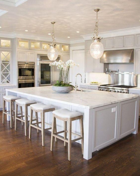40 Modern Design Ideas For Open Concept Kitchen Page 11 Of 40 Lovein Home White Kitchen Decor White Kitchen Design Kitchen Interior