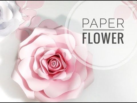 Diy Rose Tutorial Free Template Large Size Paper Rose Paper