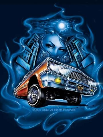 gallery for lowrider logo blue