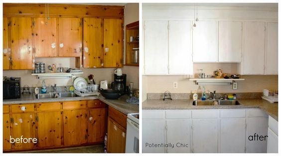 Pinterest the world s catalog of ideas - Knotty pine cabinets makeover ...