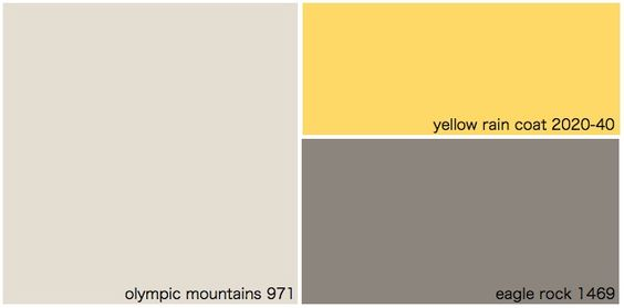 Exterior paint yellow and exterior paint combinations on for Yellow gray paint colors