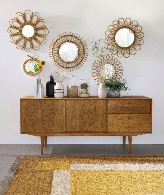 Bon Plan La Deco A Prix Casse Sur La Redoute Et Am Pm Hello Blogzine Miroir En Rotin Mobilier De Salon Idees De Decor