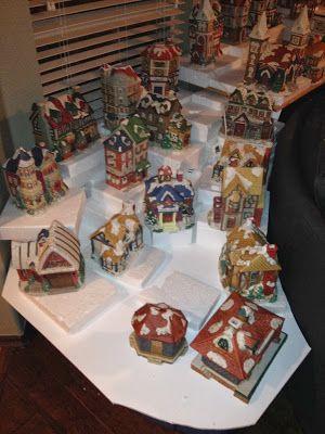 . . Tulsa Tiny Stuff: Christmas Village 2013 - The New House