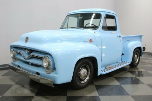 1955 Ford F 100 Baby Blue Pickup Truck Old Trucks For Sale