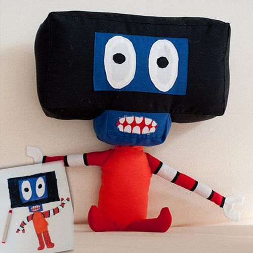 Blog: The Living Doodle: Turning Kid Drawings into Plush Toys - Doodlers Anonymous