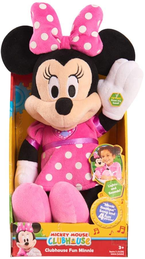 Disney Clubhouse Fun Minnie Mouse Mickey Bowtique Song /& Phrases Doll Plush