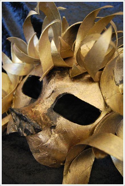 lion mask carnivals and handmade on pinterest. Black Bedroom Furniture Sets. Home Design Ideas
