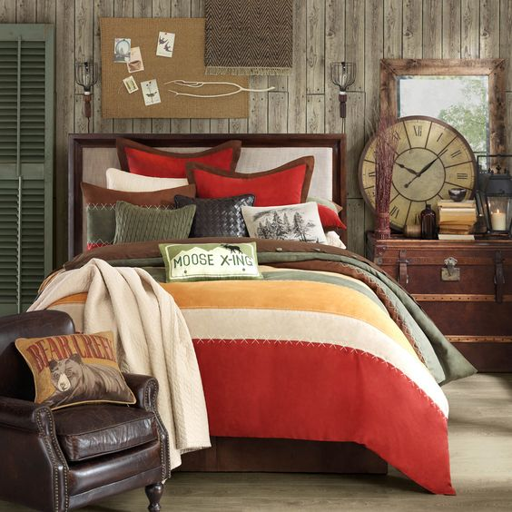 A autumn-toned microfiber comforter set is a great addition to your bedroom. Made of hypoallergenic materials, this is a nice choice for allergy sufferers. The set includes a duvet, pillow shams and bed skirt to give your bed a put together appearance.