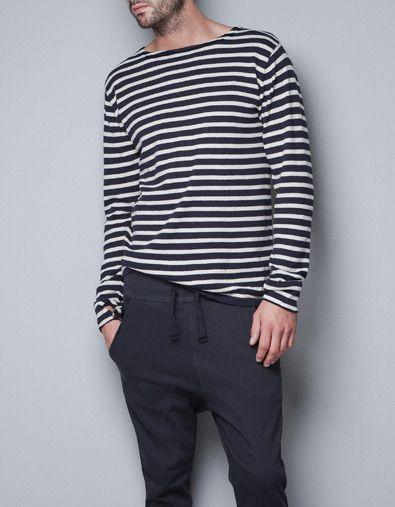 STRIPED JUMPER - Homewear - Man - ZARA