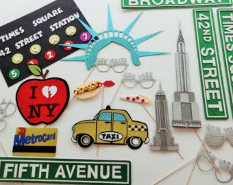 New York Photo Booth Props I love New York by weddingphotobooth