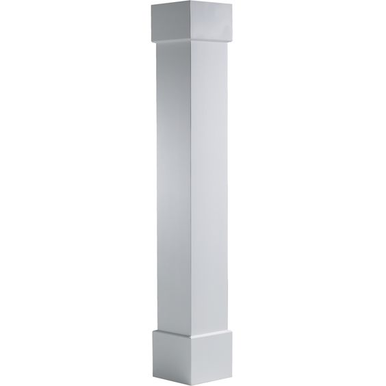 Shop turncraft 8 in x 8 ft pvc craftsman column at lowes for Craftsman columns