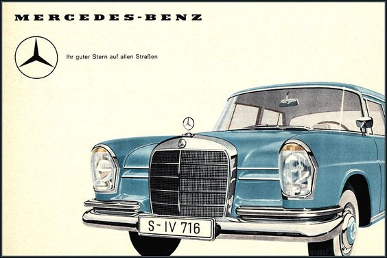 Mercedes benz star of the road vintage poster vintage art for Mercedes benz poster