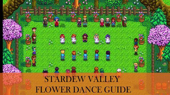 Stardew Valley Dancing Festival Stardew Valley Flower Dance Valley Flowers