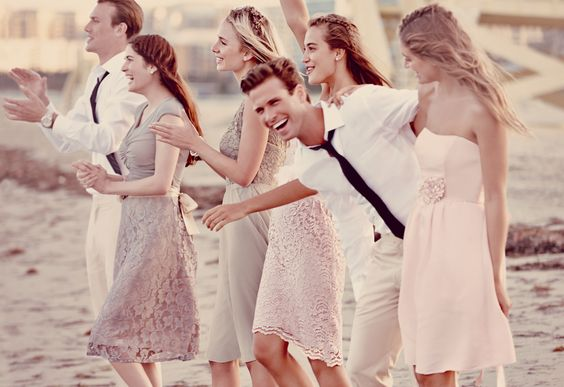 Shop for neutral bridesmaid looks, perfect for a #beachwedding #davidsbridal: