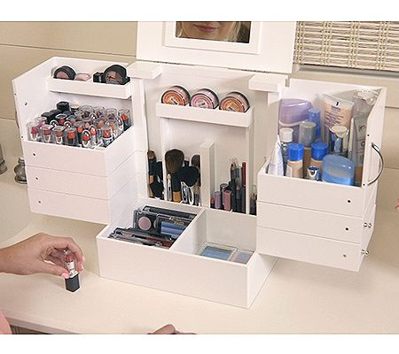 Deluxe Cosmetic Box With Mirror By Lori Greiner Qvc Com