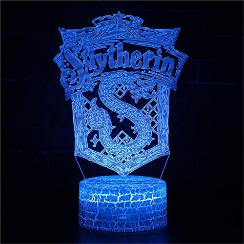 Yoppg Veilleuse 3d Lampe Optique Illusion Led 7 Couleurs Acrylique Tactile Usb Ou Batterie Powered Enfant Lampe De Cheve Lampe De Chevet Veilleuse Harry Potter