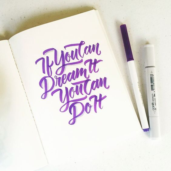 If you can dream it You can do it! #calligrafikas #grafikas #dreweuropeo #moderncalligraphy #lettering #handlettering #madewithcrayola #crayolamarkers #crayolalettering #copic