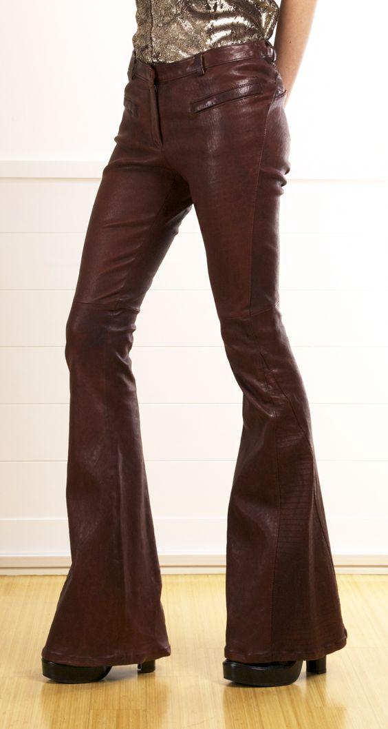 Elizabeth & James Pants. Leather flared pants...love it!!