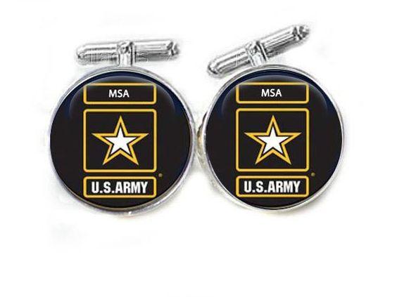 Army Military Cufflinks, Personalized cufflinks