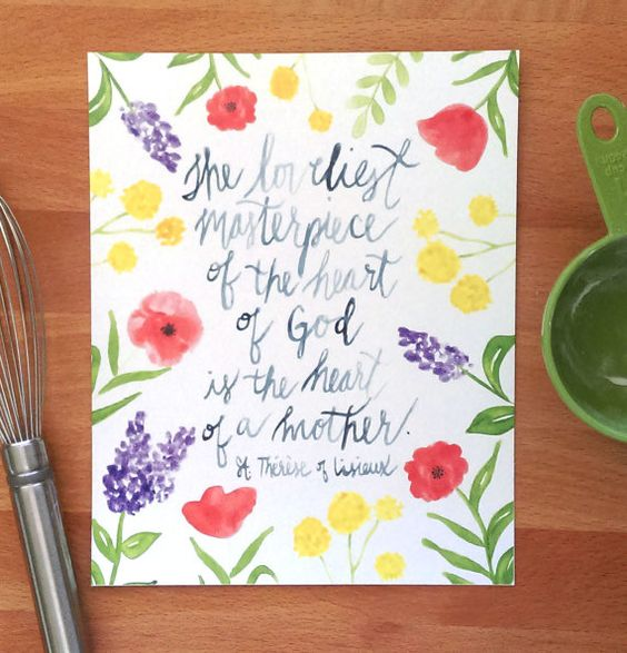 Hey, I found this really awesome Etsy listing at https://www.etsy.com/listing/277716976/mothers-day-gift-st-therese-quote