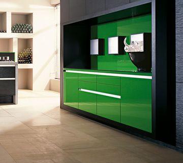 Dise o de cocinas verdes cocinas verdes pinterest for Diseno de cocinas madrid