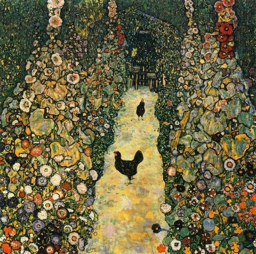 Garden Path with Chickens - Gustav Klimt 1917