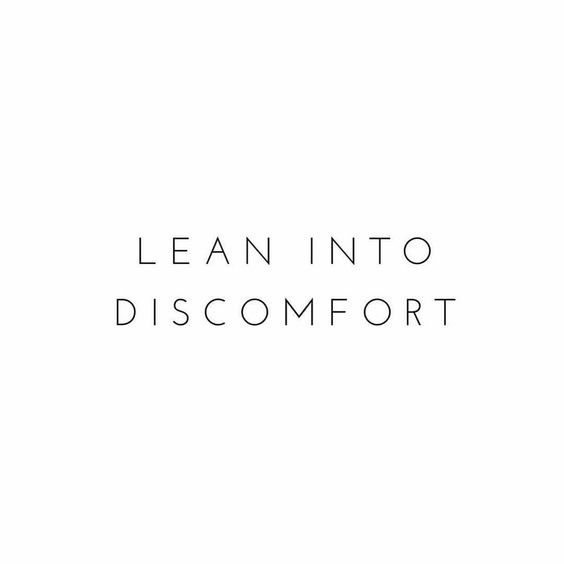 No change ever came from a place of comfort. Lean into that discomfort and G R O W babes #reminders #thingsitoldmyselfthismorning