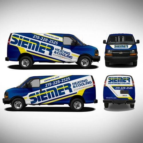 Create A New Look For Our Heating And Cooling Trucks For Siemer