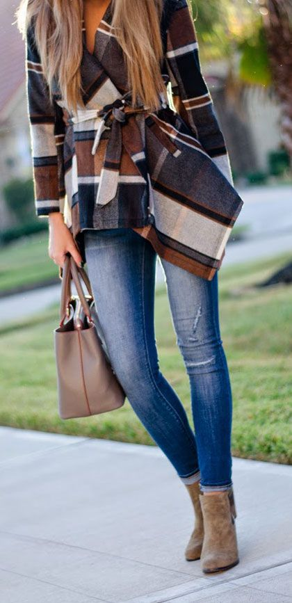 Street style for fall chic....Plaid: