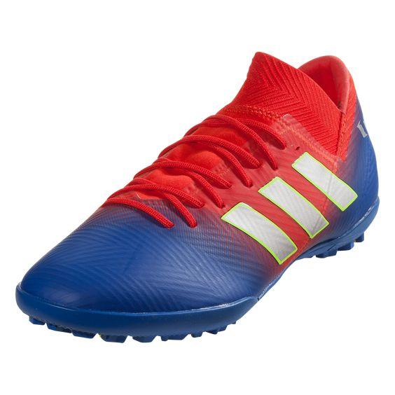 adidas Nemeziz Messi Tango 18.3 TF Soccer Shoes Active Red/Silver Metallic/Football Blue-10.5