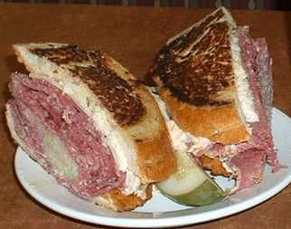 I live in NYC and grew up in Miami in the time of Wolfies, Pumperniks and the Rascal House, yet I want to go to Indianapolis and eat this Reuben Sandwich, with a pocket of Sauerkraut nestled gently in a meat pocket.  Sigh