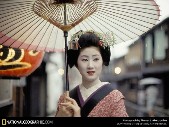 Geisha, Kyoto, Japan, 1970