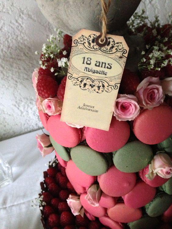 DIY Macaron birthday cake | Cake pops | Pinterest | DIY and crafts ...