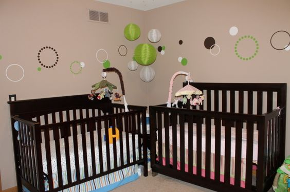 Twin Nursery for Boy and Girl